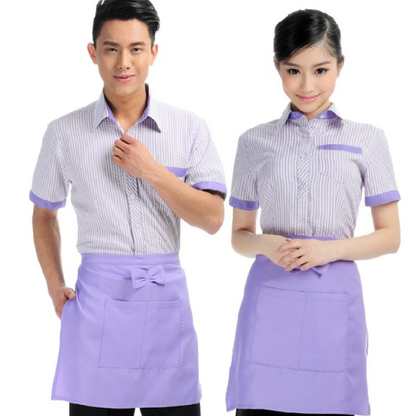 Hotel-font-b-Uniform-b-font-For-Waiters-And-Waitress-Short-Sleeved-Summer-Snack-Restaurant-Dining